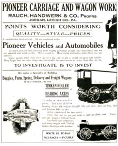 Pioneer Carriage & Wagon Works Advertisement